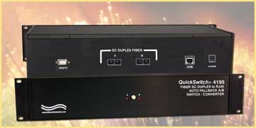 SC Duplex to RJ45  A/B Switch/Converter