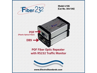 304106 - 4106 HP Fiber Repeater with Custom RS232 Monitor Port