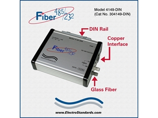 304149-DIN - 4149-DIN Hi-Speed Rugged ST Fiber-to-RS-485/422/232 Converter
