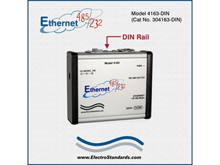 304163-DIN - 4163-DIN High Speed Ethernet-to-RS485/422/232 Interface Converter