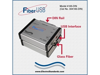304165-DIN - 4165-DIN High Speed Rugged ST Fiber-to-USB Interface Converter