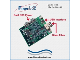304166 - 4166 High Speed Rugged ST Fiber-to-USB Interface Converter