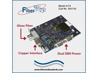 Catalog # 304174 - Model 4174 High Speed Ruggedized ST Fiber to RS485/422/232 Interface Converter, Board