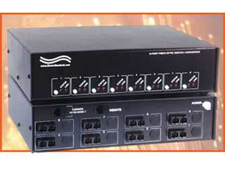 Catalog # 304191 - Model 5191 8-Way Fiber Switch / Converter with Remote