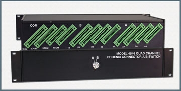 4-Channel Pheonix Connector A/B Switch