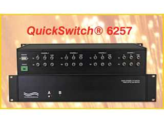 Catalog # 306257 - Model 6257 4-Channel A/B Fiber Optic Switch with Voltage/Contact Closure Remote,1300 nm