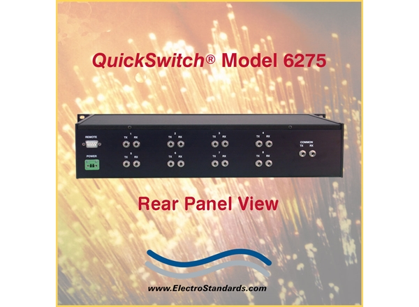 SPECIAL 15% OFF W/PROMO CODE Catalog # 306275 - Model 6275 8-Position Fiber Switch w/Offline Position