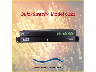 *AUTOMATIC FALLBACK FEATURE* Catalog # 306323 - Model 6323 SC/APC Duplex A/B Fiber Switch w/Telnet & GUI