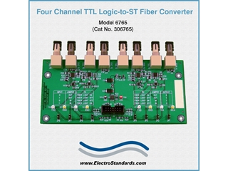 306765 - 6765 TTL Logic-to-ST Fiber Interface Converter (Board)