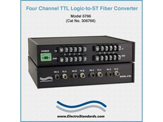 306766 - 6766 TTL Logic-to-ST Fiber Interface Converter (Desktop)