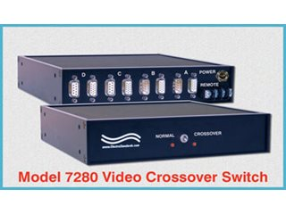 Video Presentation Switch, HD15 Pin Catalog # 307280 - Model 7280 HD15/DB9 Video Crossover Network Switch