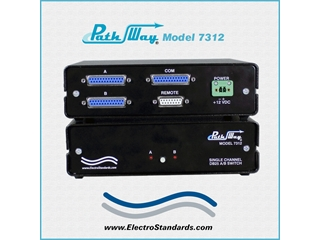 Catalog # 307312 - Model 7312 RS232/RS530 A/B Switch with Contact Closure