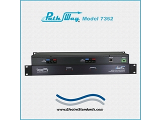 Catalog # 307352 - Model 7352 2-Channel RJ45 CAT5e A/B/Offline Switch