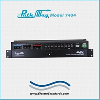 Catalog # 307404 - Model 7404 6-Channel A/B PoE Switch; 3-Channels Audio (4-Pin 3.5mm) & 3-Channels RJ45 Cat5e with RS232 Remote