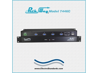 Catalog # 307446C - Model 7446C CE Certified, DB9 One-Half Crossover Switch, with Contact Control Remote