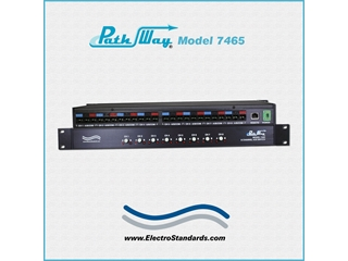 Catalog # 307465 - Model 7465 8-Channel RJ45 A/B Switch
