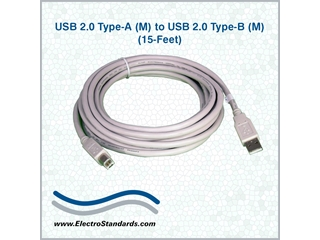 507368 - 507368 USB 2.0 Type A to USB 2.0 Type B Cable 15ft