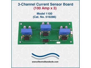 519286 - 1100 Current Sensor Board, Three Channel, 100 Amp x 3