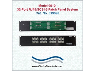519696 - 9510 32-Port RJ45/SCSI-5 Patch Panel System