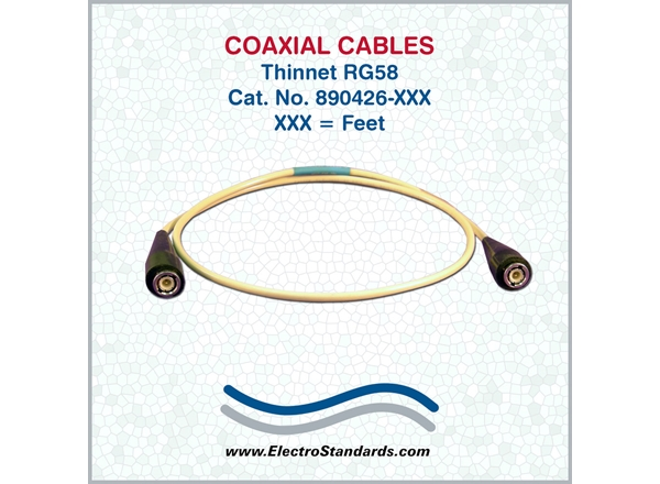 Coaxial Cables, 50 ohm, M/M Custom Length