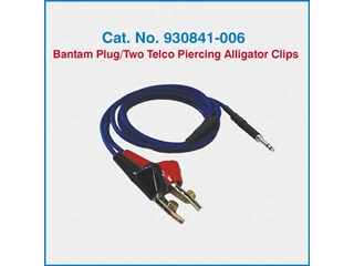 Telco Test Cable 930841-006 Bantam Plug/Two Telco Piercing Alligator Clips