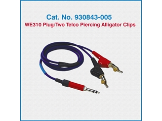 Telco Test Cable 930843-005 WE310 Plug/Two Telco Piercing Alligator Clips