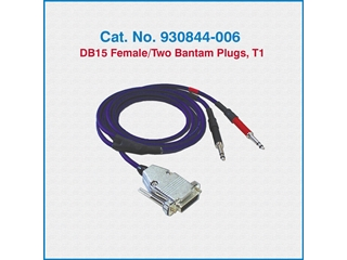 Telco Test Cable 930844-006 DB15 Female/Two Bantam Plugs, T-1
