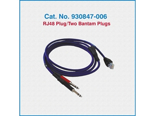 Telco Test Cable 930847-006 RJ48 Plug/Two Bantam Plugs