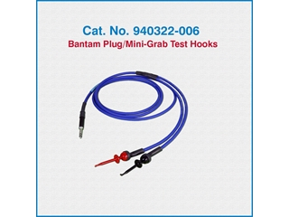 Telco Test Cable 940322-006 Bantam Plug/Two Mini-Grab Test Hooks