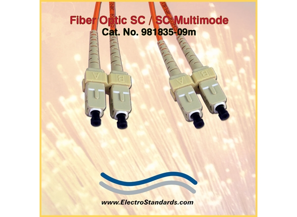 SC/SC Multimode Fiber Optic Cable Assembly
