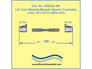 Cable for SuperCapacitor Inter-Module Master Controller, 3 Meter, Catalog#989226-03M