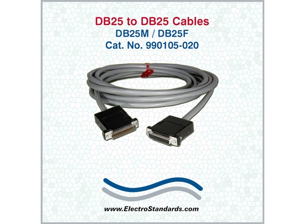 DB25M to DB25F cable, 20 feet