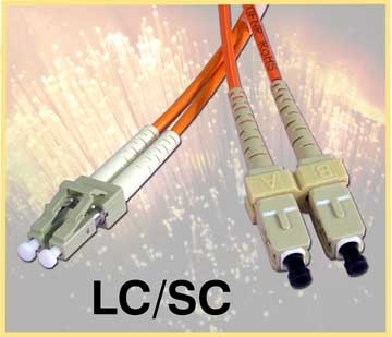 LC/SC Duplex, Fiber Optic Cable, 62.5/125, Multimode, 9 Meter, 986078-09m