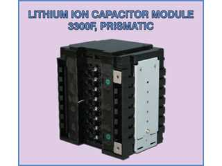 3300F Prismatic in Series of 4, Lithium Ion SuperCapacitor Module ESL703304 (JSR MPA15G825H)
