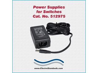Catalog # 512975 - Model 512975 Power Supply, 100-240 VAC/5 VDC