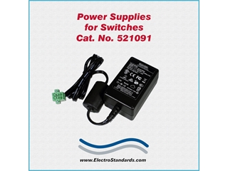 Catalog # 521091 - Model 521091 Power Supply, 100-240 VAC/5  VDC