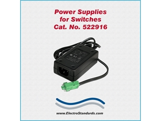 Catalog # 522916 - Model 522916 Power Supply, 100-240 VAC/12 VDC