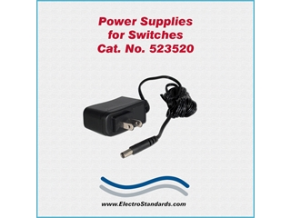 Catalog # 523520 - Model 523520 Power Supply 100 - Model 240 VAC/12 VDC