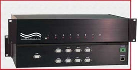 Model 7810 8-to-1 HD15 Switch with 10/100 BASE-T LAN Access