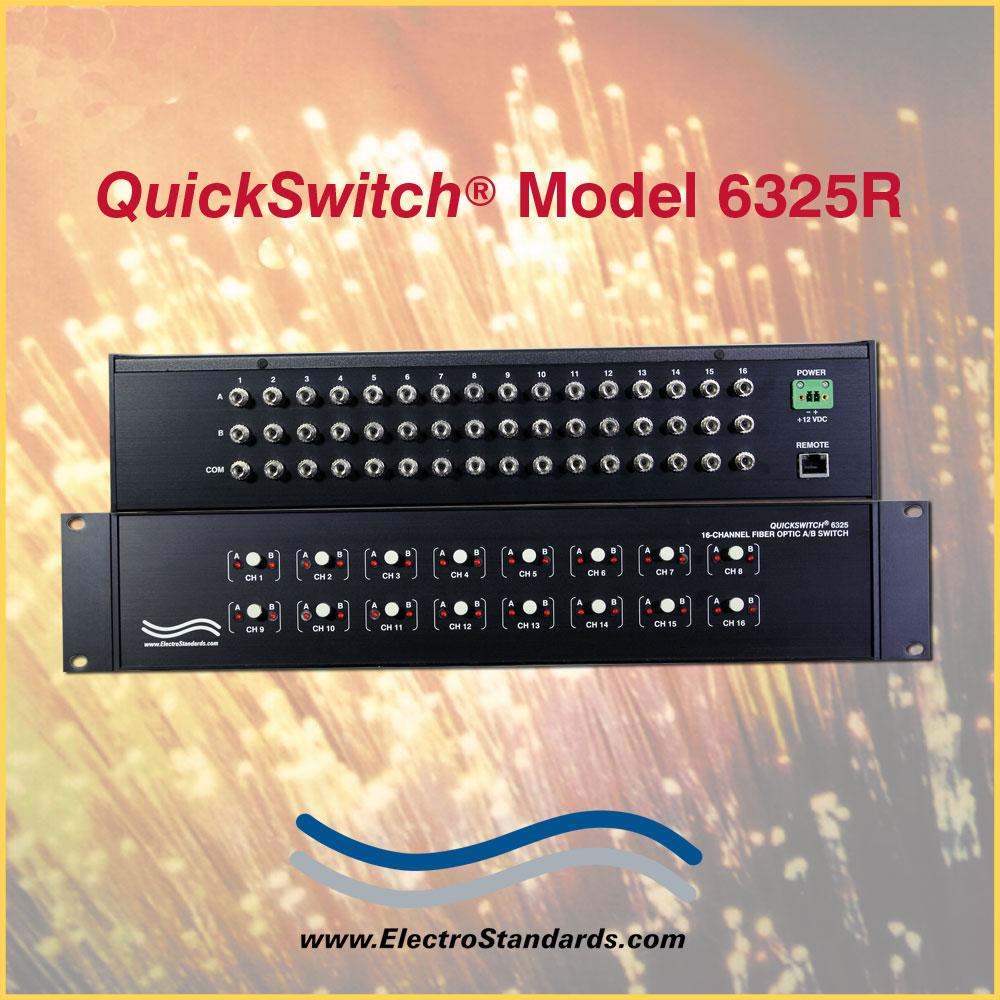 6325R ST Simplex A/B Fiber Optic Switch, Single mode with Telnet and GUI