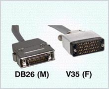 Motorola / Codex Compatible Cables DB26 (M) / V35 (F) Cat. No. 980113-030