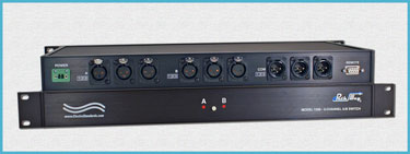 Model 7298 3-Channel XLR Audio A/B Switch, with Contact Control Remote Port, 1U Rackmount