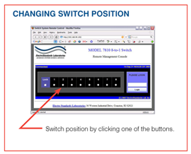 Model 7810 Screen Shot of Changing Switch Position