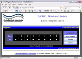 Model 7810 Login Screen