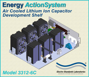 Energy ActionSystem Model  3312-6C, Air Cooled Lithium Ion Capacitor Development Shelf