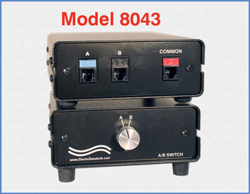 Model 8043 RJ11/12 A/B Switch, Manual, Cat 3 Compliant Rotary Switch