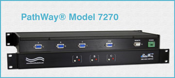 PathWay® Model 7270 Single Channel DB9 A/B/C Switch with Serial Remote Control Port