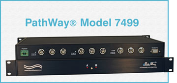 Model 7499 3-Channel BNC A/b Switch with Contact Closure, great for Audio & Video Remote Switch Applications