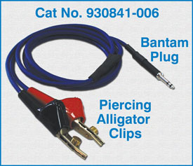 Bantam Plug to Piercing Alligator Clips / 930841-006