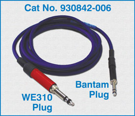 WE310 Plug to Bantam plug / 930842-006